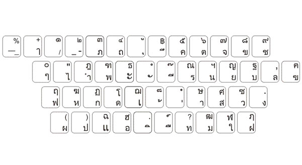 Thai Keyboard Layout
